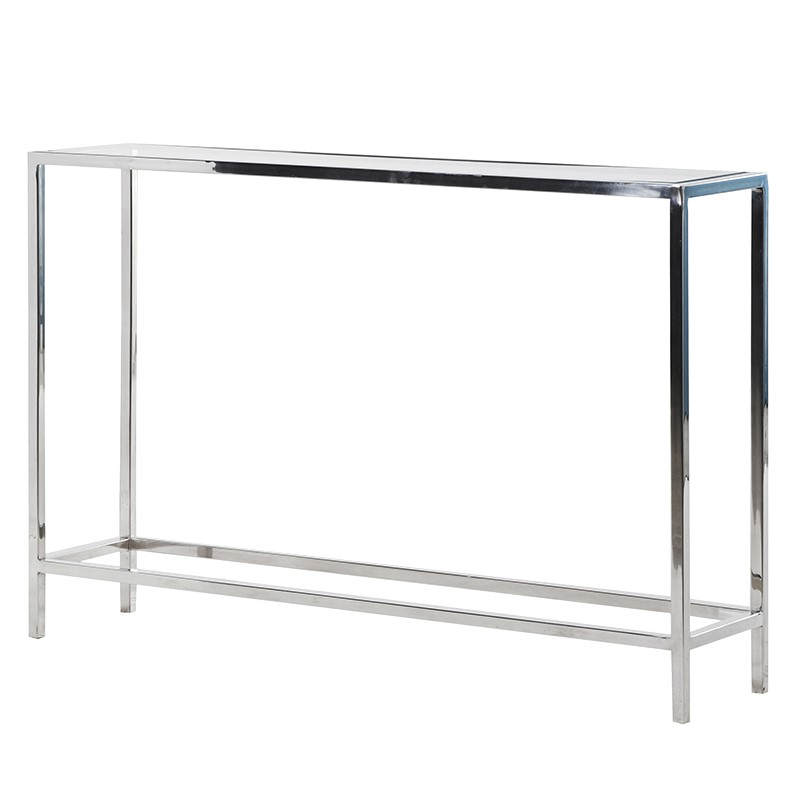 White Resin Folding Table, Chelsea Narrow Glass And Steel Console Table Tree Frog