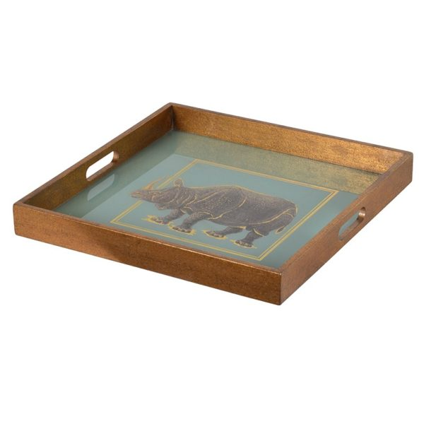 Drinks Tray Rhino print