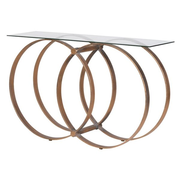 Gold Hooped Console Table