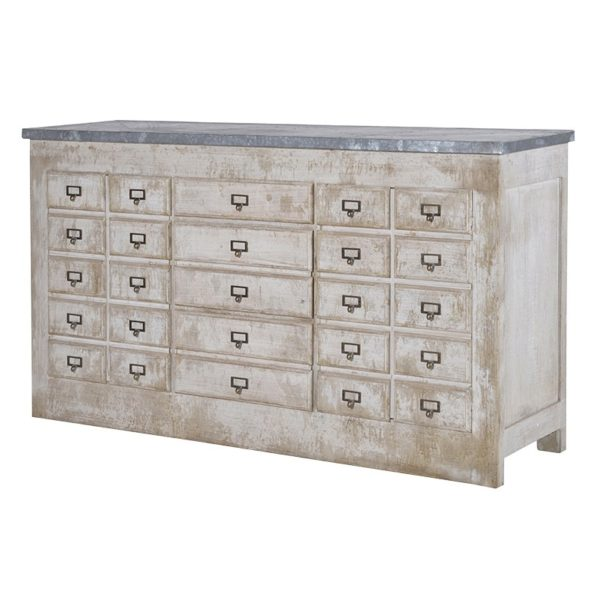 Zinc Top Storage Unit