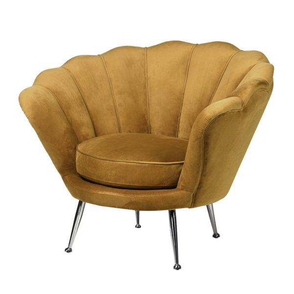 occasional chair mustard shell shaped
