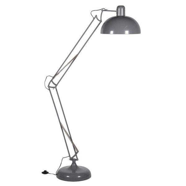 Grey Adjustable Floor Lamp