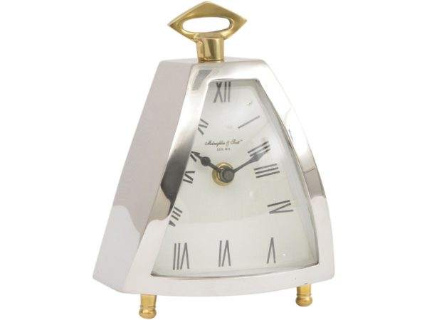 nickel mantel clock