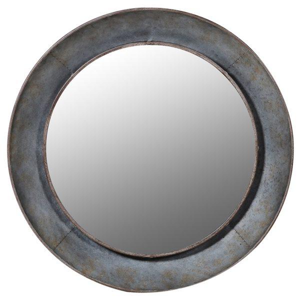 industrial stylr round mirror