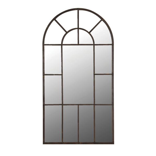 Multi Pane Arch Mirror.