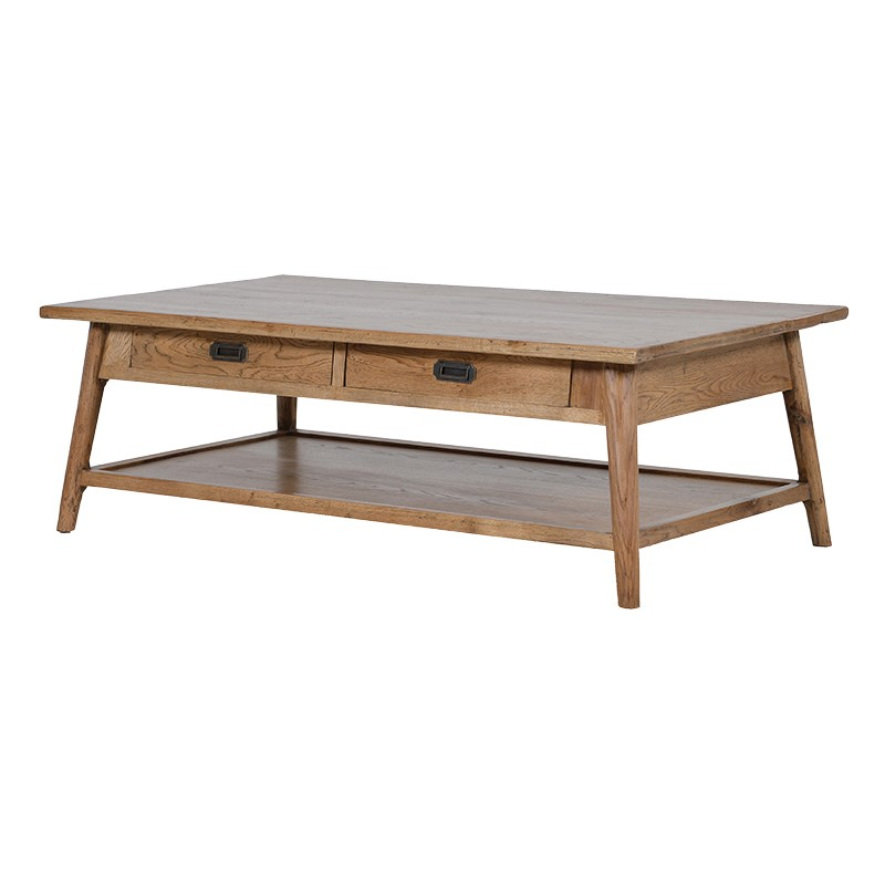 Oak Coffee Table Shelf