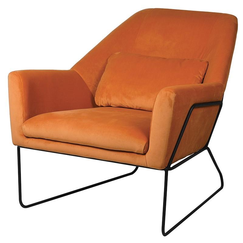 Orange Retro Occasional Chair